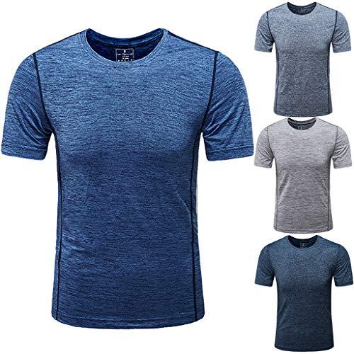 8d50aa856ed8d Hommes T-Shirt Tops Pullover Shirt Eté Casual O-Cou Casual Fitness du  Quotidien