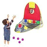 Waroomss Bambini pallacanestro Obiettivo Kids Pop-Up Football Goals, Mini pompa Fischio Toy Portable Indoor Sport all'aria aperta per Indoor & Outdoor Sport e Pratica
