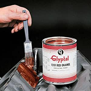 Glyptal Red Enamel Paint Aerosol (345g) Seals Tiny Pores After Blasting Smooth