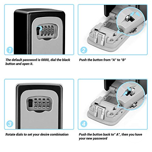 CDC® Combination Key Lock Box - More Convenient Key Box - Best Outdoor Wall  Mounted Safe Key Box - Set Your Own Combination - Great For Elderly