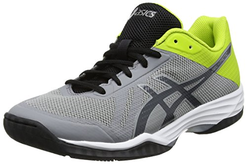 ASICS Gel-Tactic, Sneaker Uomo, Grigio (Aluminum/Dark Grey/Energy Green 000), 46 EU