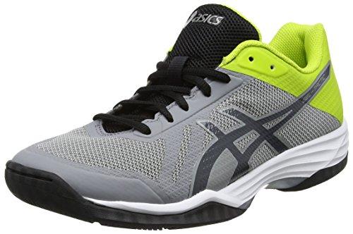 Asics Gel-Tactic, Chaussures de Volleyball Homme Gris (Aluminum/dark Grey/energy Green)