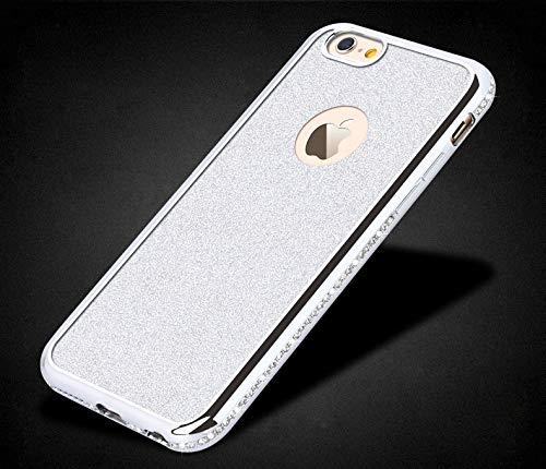 Artfeel Bling Glitzer Hülle für iPhone XR,Glänzend Diamant Kristall Strass Ultra Dünn Weich Silikon TPU Zurück Handyhülle,Überzug Rahmen Bumper Stoßfest Schutzhülle-Silber