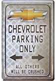 Chevrolet Parking only Deko Blechschild Tin Sign