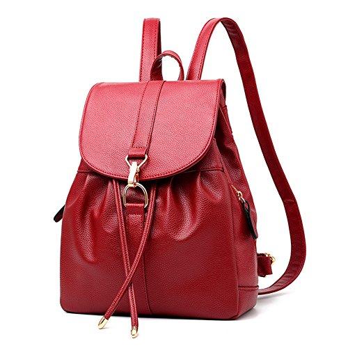 Sac à dos en cuir souple//Vague coréenne sacs à main mode/Académie vent loisirs dames sacs à dos-B C