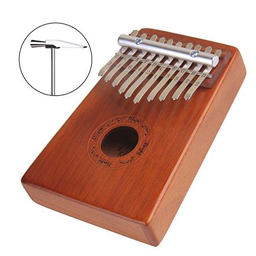2-pocket-taste (Mugig Kalimba Mbira Sanza 10 Tasten Daumen Klavier Pocket Size Anfänger Freundliche Unterstützung Kalimba Tasche und Notenschrift (10 key))