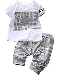 BOBORA Ensemble Bébé Garçon Étoiles Estampes T-shirt + Pantalons