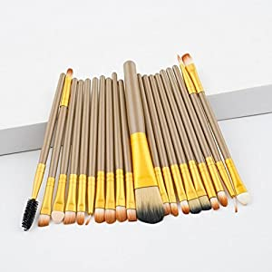 Generic A: Beauty 20Pcs makeup brushes sets professional Women' s Fashion Eyeshadow Eyeliner Brush Cosmetic Concealer Brushes dec20