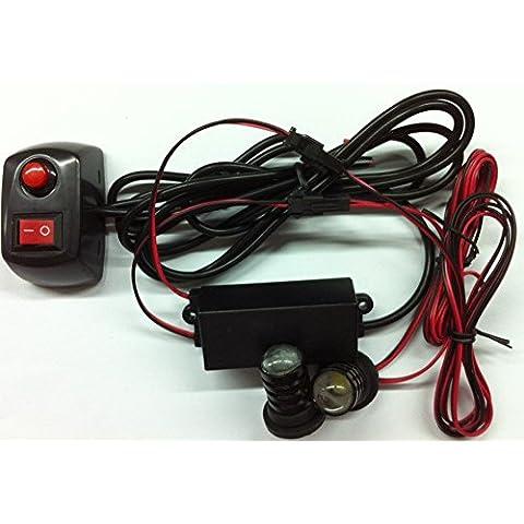 biaochi coche automático ultra slim LED 6modos de Flash 12V 2W peligro seguridad de emergencia Advertencia linterna parrilla Dash cubierta Barra de luz estroboscópica lámpara KM338
