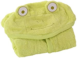 Kids Baby Bath Large Towel 80x135cm Cute Frog Hooded Ultra-soft Flannel Bathing Wrap Blanket,0-6 Years Old (Green)