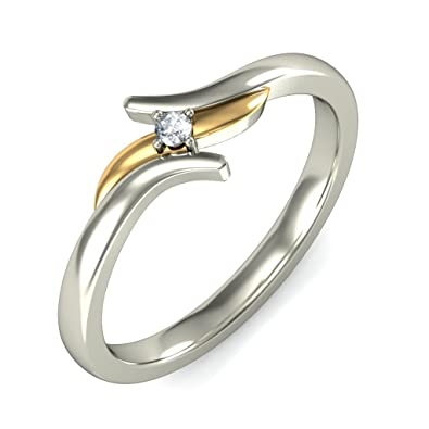 Buy BlueStone White Gold and Diamond Tenera Ring line at Low