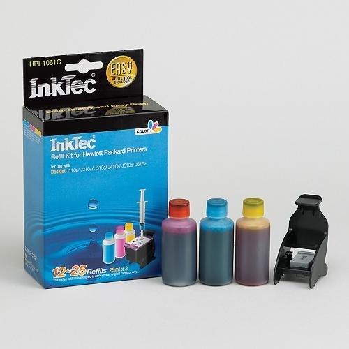 Recarga InkTec para cartuchos HP nº 301 y 301XL COLOR, 25ml x 3
