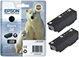 Epson Original 26 Black Ink Cartridge Polar Bear (Pack of 2)
