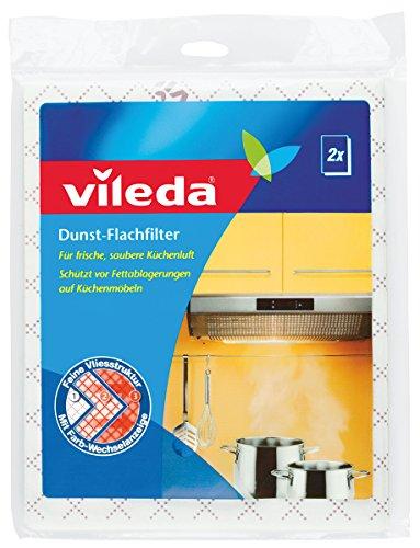 Vileda Dunst-Flachfilter - Für frische, saubere Küchenluft - Universalformat, 2 Stücke
