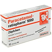 Paracetamol Ratiopharm 1000 mg Erw.-Suppositorien 10St preisvergleich bei billige-tabletten.eu