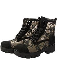 LEENA G Damen Comfort Wildleder Stiefeletten Boots