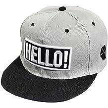 Tongshi Bordado de la manera Snapback Boy Hip Hop ajustable del sombrero gorra de béisbol unisex