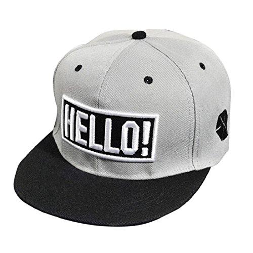a5489310e2575 Tongshi Bordado de la manera Snapback Boy Hip Hop ajustable del sombrero.
