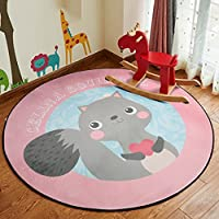 Carpet Liucuifang Pink Squirrel Round Polyester Children