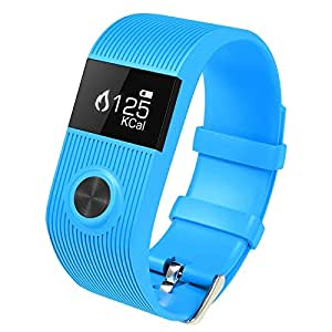 Generic TW64P 0. 49 inch Bluetooth Smart Bracelet, Support Heart Rate Monitor / Pedometer / Calls Remind / SMS Remind / Sleep Monitor / Alarm, Compatible with Android and iOS Phones (Blue)