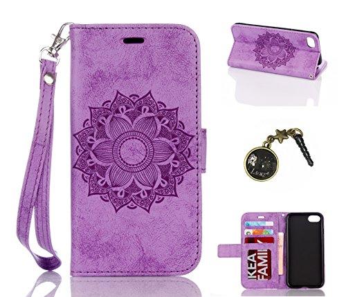 PU Cuir Coque Strass Case Etui Coque étui de portefeuille protection Coque Case Cas Cuir Swag Pour Apple iPhone 7 (4.7 pouces) +Bouchons de poussière (1SS) 2