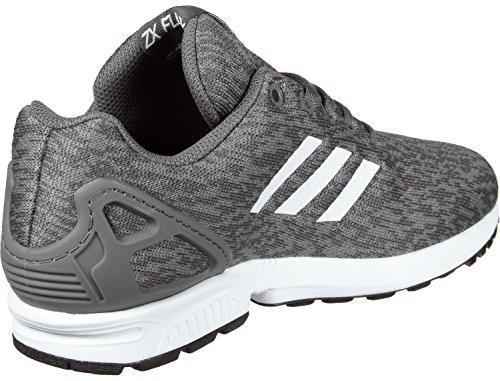 adidas Unisex-Kinder ZX Flux J Fitnessschuhe, Grau (Gricin/Ftwbla/Ftwbla), 36 2/3 EU