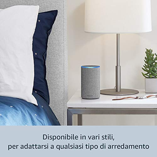 Amazon Echo (2ª generazione) - Altoparlante intelligente con integrazione Alexa - Tessuto antracite