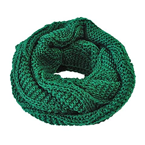 Transer ® Femelle Écharpes, Mode Femmes Hommes Keep Warm Knit Cowl Neck Long Écharpe Châle (Vert)