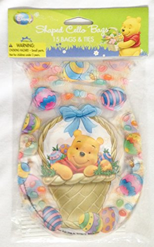 Disney's Winnie-the-Pooh Easter Egg Shaped Treat Sacks & Ties (15 Count) by Winnie-the-Pooh - Easter Eggs Tie