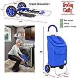 dbest products Trolley Dolly, Blue Foldable Cart