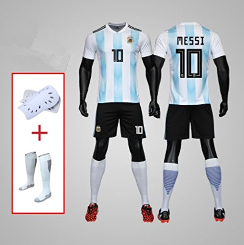 mqtwer Fußballanzug Kinder Portugal Portugal Brasilien Argentinien C Luo Neymar Messi 2018 Trikot, M, Nr. 10 Argentinien