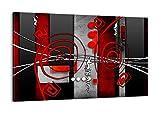 Quadro su Tela - Elemento Unico - Larghezza: 120cm, Altezza: 80cm - Numero 0599 - Pronto da Appendere - Completamente incorniciato - AA120x80-0599