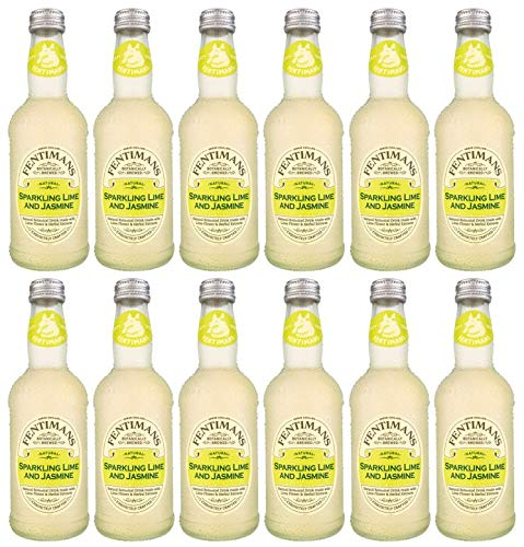 Fentimans Sparkling Lime and Jasmine Drink 12 x 275 ml Tall Beverage