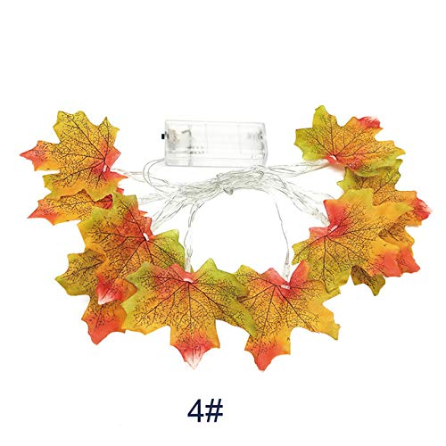 MJIE Halloween led Lichterkette 1,5 mt 10led beleuchtet Herbst Herbst kürbis ahorn Kranz Thanksgiving Dekoration 1,5 mt d Keine batterien -