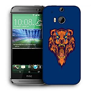 Snoogg Furious Lion Designer Protective Back Case Cover For HTC One M8