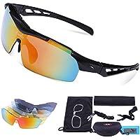 Lunettes de cyclisme, Carfia TR90 Lunettes de sport polarisées 100% UV400 Protection pour les hommes Femmes Extérieur En cours de jogging Pêche Ski Golf Baseball