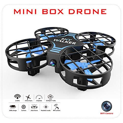 FairOnly H823H Mini Drone para niños RC Nano Quadcopter Altitude Hold Modo sin Cabeza 3D Flip One Key Retorno y Ajuste de Velocidad Azul