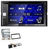 caraudio24 JVC KW-V255DBT Bluetooth USB DAB DVD 2DIN MP3 Autoradio für Peugeot 307 207 Expert Partner Klavierlack