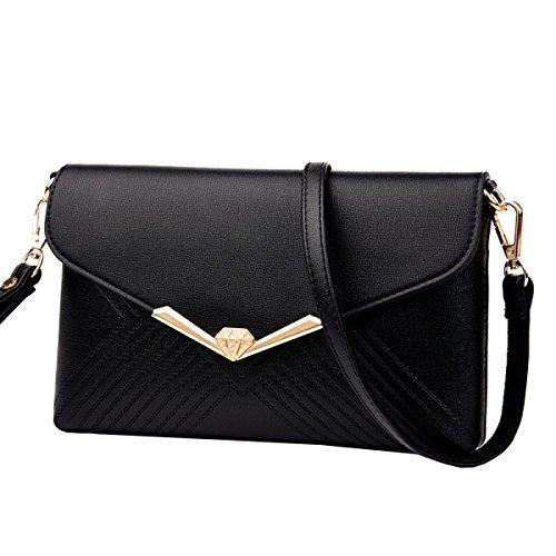 LAIDAYE Damen Handtaschenpaketbeutel Schulterbeutelumschlagbeutelbeutel Kurierbeutelfreizeithandbeutel 3