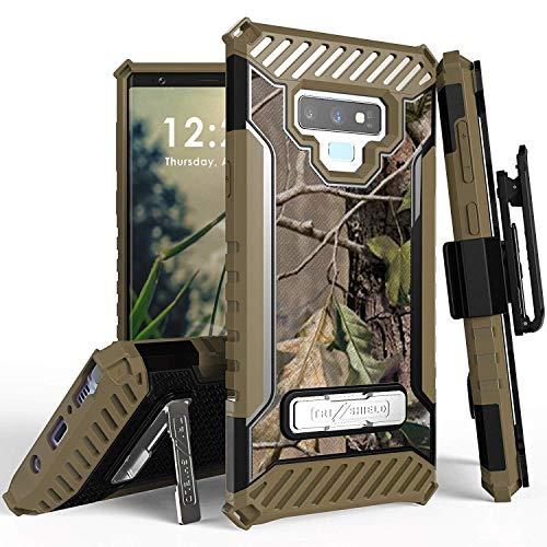 Trishield Schutzhülle für Galaxy Note 9, strapazierfähig, robust, mit Gürtelclip, mit Integriertem Ständer für Samsung Galaxy Note 9 2018 - Hunter Tree Outdoors Camo -