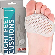 Metatarsal Pads Ball of Foot Cushions - 2 Pairs - Soft Gel Ball of Foot Pads - Mortons Neuroma Callus Metatarsal Foot Pain Relief Bunion Forefoot Cushioning Relief Women