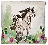 Nici 36901 - Kissen Pferd, 35 x 35 cm, bedruckt, graubeige