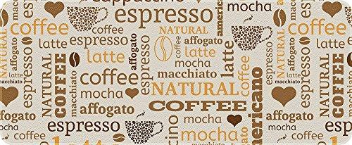 ID Mat 50120 Café Latte Tapis de Cuisine Fibre Polyamide/PVC Beige 120 x 50 x 0,4 cm