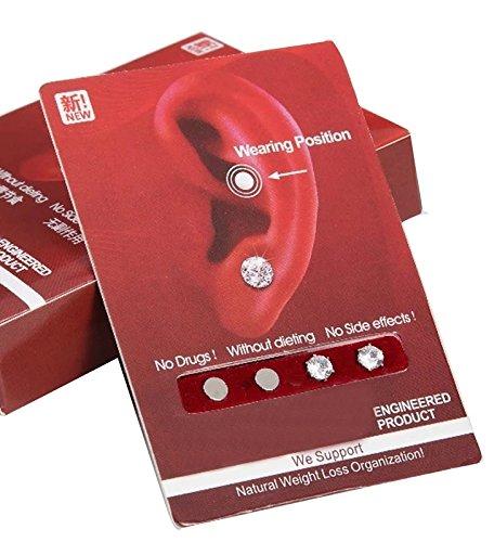 Magnete für das Ohr - Aurikulotherapie - natürliche Methode zur Gewichtsreduktion