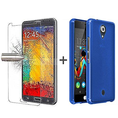tboc-pack-coque-gel-tpu-bleu-protecteur-dcran-en-verre-tremp-pour-wiko-u-feel-silicone-souple-ultra-
