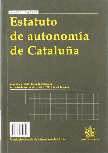 Estatut d¿autonomia de Catalunya/Estatuto de autonomía de Cataluña