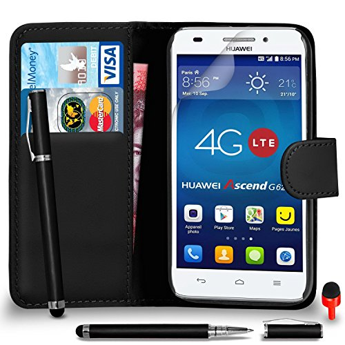 huawei-ascend-g620s-premium-leather-black-wallet-flip-case-cover-pouch-2-in-1-ball-pen-touch-stylus-