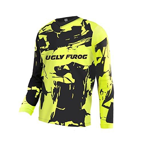 Uglyfrog -Bunt Camo Sport Radsport Trikots & Shirts Lange Ärme Downhill Jersey V-Kragen MTB/Motorrad Jersey