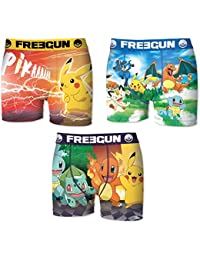 Lot 3 Boxers Homme Freegun POKEMON