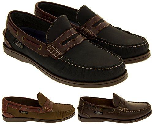Footwear Studio Helmsman 72015 Cuir Mocassin Chaussures Bateau Hommes